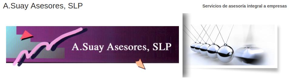 Logo for A.Suay Asesores, SLP. Servicios de asesoría integral a empresas